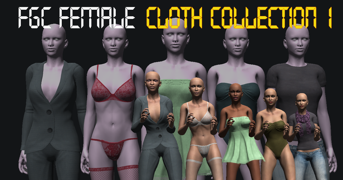 3d models FGC Female Cloth Collection 1