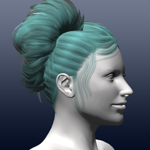 Fgc Female Hair Pony Tail 2 Unity 3d Models Fg3d