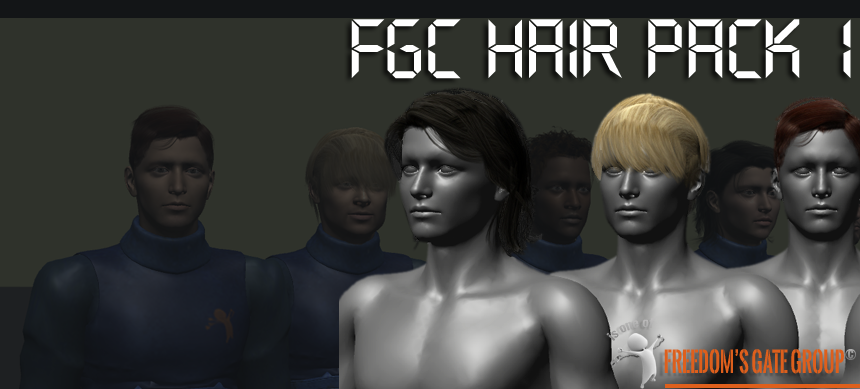 FGC Male Hair Pack 1 Unity 3D Models – FG3D